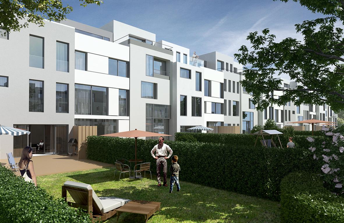 finkenau uptownhouses heitmannmont far architekten. Black Bedroom Furniture Sets. Home Design Ideas